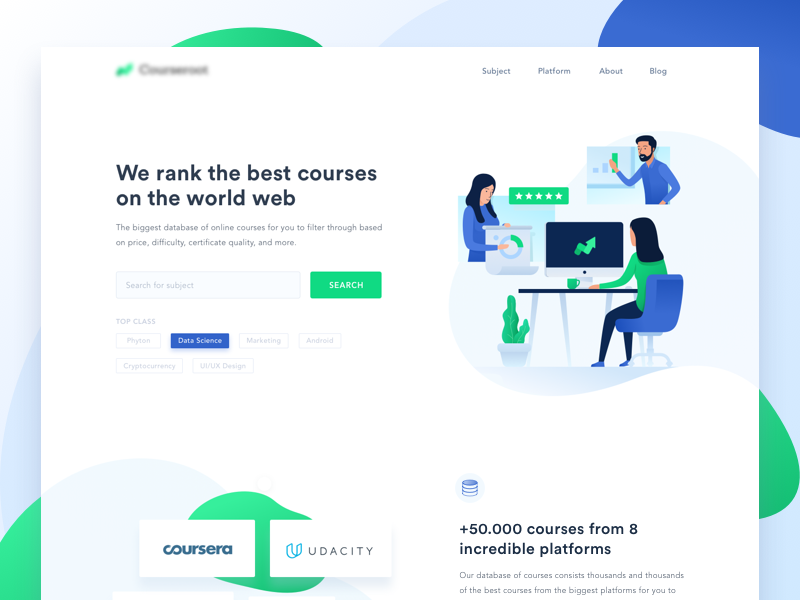 Digital Courses Landingpage programmer lesson e-learning education dashboard course authoring