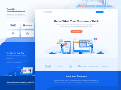 Brand Analytics Website landing isometric illustration data chart research market ads dashboard analytic insight brand