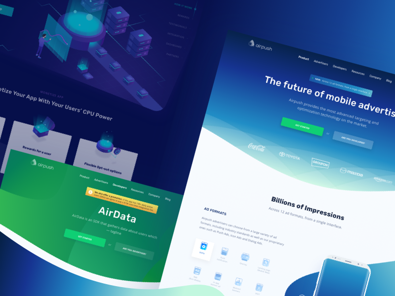 Airpush - Website by Anggit Yuniar Pradito for