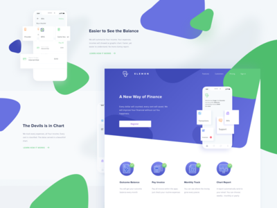 Finance Application Landing page