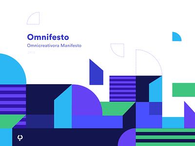 Omnifesto, a Design Manifesto identity logotype logo flat design design manifesto pattern branding brand illustration