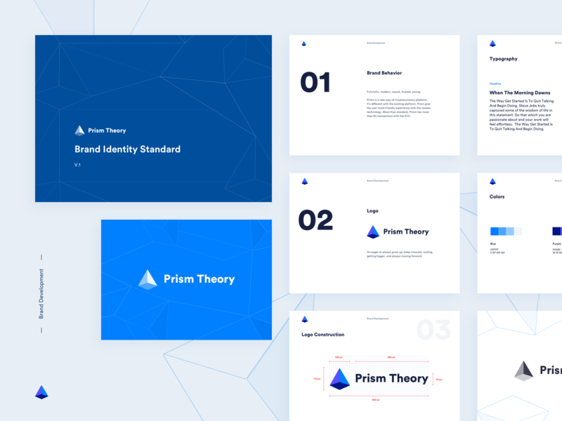 Prism Theory - Branding Identity crypto currency logo design icon simple logotype website branding identity branding brand identity logo