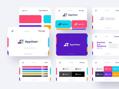 Appitizer Logo website pattern logotype logo design logo brand identity brand design branding