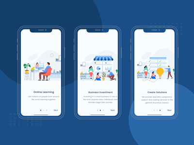 Onboarding Screen with Tinuku Illustration onboarding website landing page app ux ui dashboard finance illustration