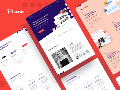 Traackr Website ui  ux platform marketing influencer social media landing page website dashboard finance