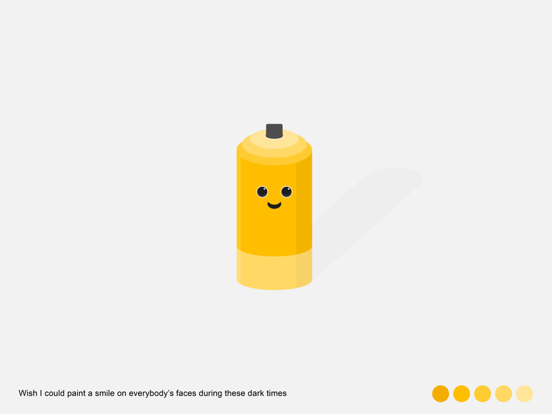 Paint a smile | Spray Can paint smile yellow spray can minimal illustration design