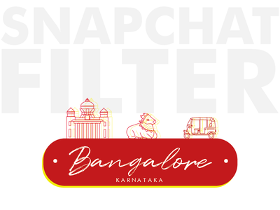 Bangalore Snapchat filter- Weekly Warm-Up Prompt No. 1 dribbbleweeklywarmup weekly challenge yellow red snapchat snapchat filter illustration design bangalore