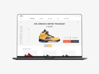 Veg Non Veg sneaker store website mockup