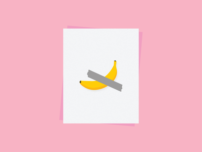 Banana duct tape poster