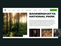Bannerghatta National Park homepage mockup