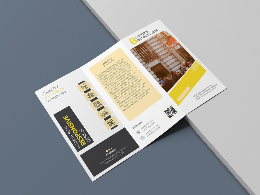 Corporate Trifold Brochure agency design a4 brochure us letter branding print ready trifold brochure multipurpose corporate professional business template indesign