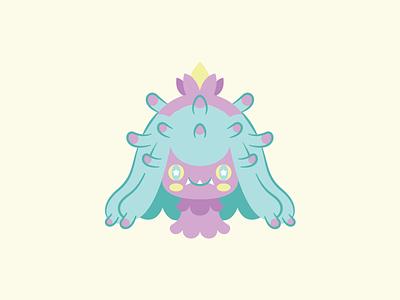 Mareanie mareanie pokemon design cute flat vector illustration
