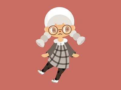 Animal Crossing new horizons acnh animal crossing cute flat vector illustration