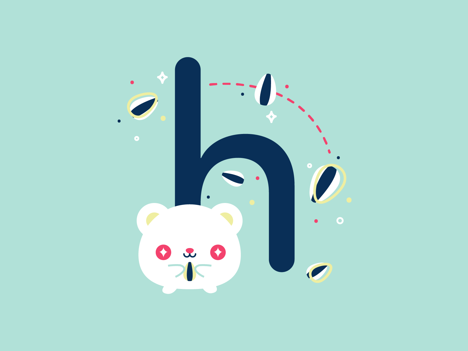 H hamster 36daysoftype 26daysoftype cute flat illustration vector