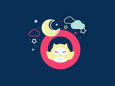 O owl 36daysoftype 26daysoftype cute flat illustration vector