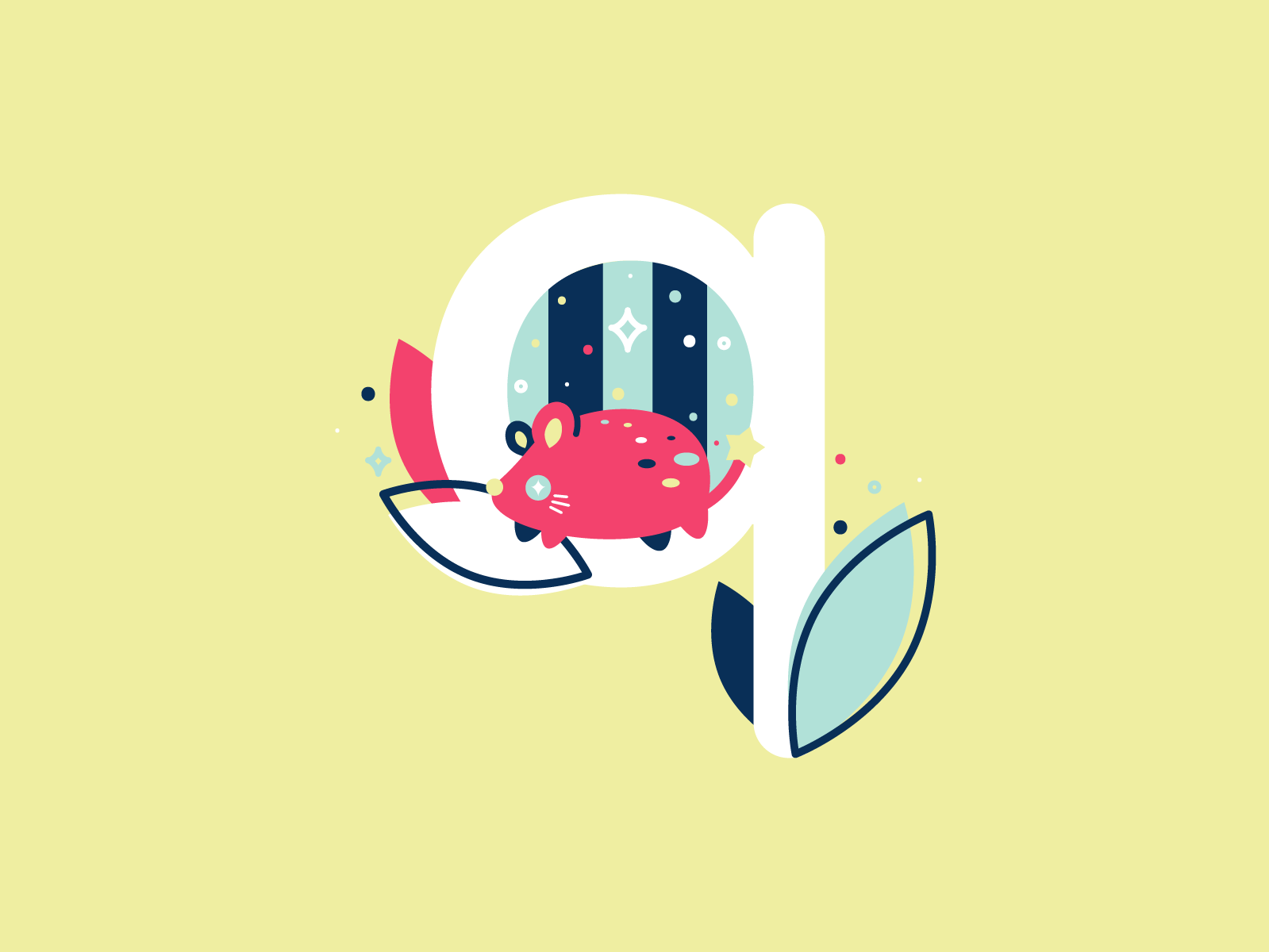 Q quoll 36daysoftype 26daysoftype cute flat illustration vector