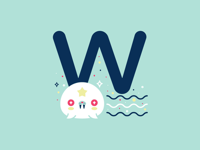 W 36daysoftype 26daysoftype cute flat vector illustration whale