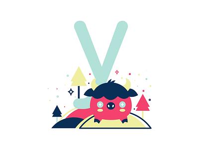 Y 36daysoftype 26daysoftype cute flat vector illustration yak