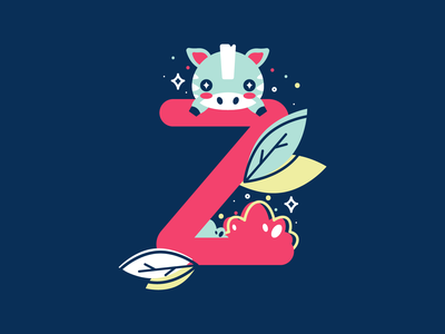 Z 36daysoftype 26daysoftype flat cute vector illustration