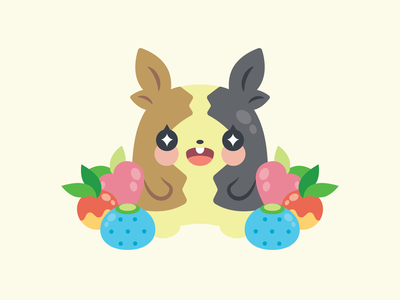 Morpeko fruit flat cute vector illustration morpeko pokemon