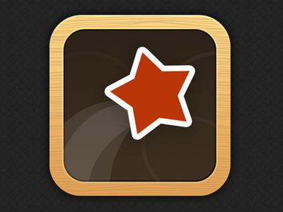 My Dream Life Job Board App Icon icon app iphone star red wood texture