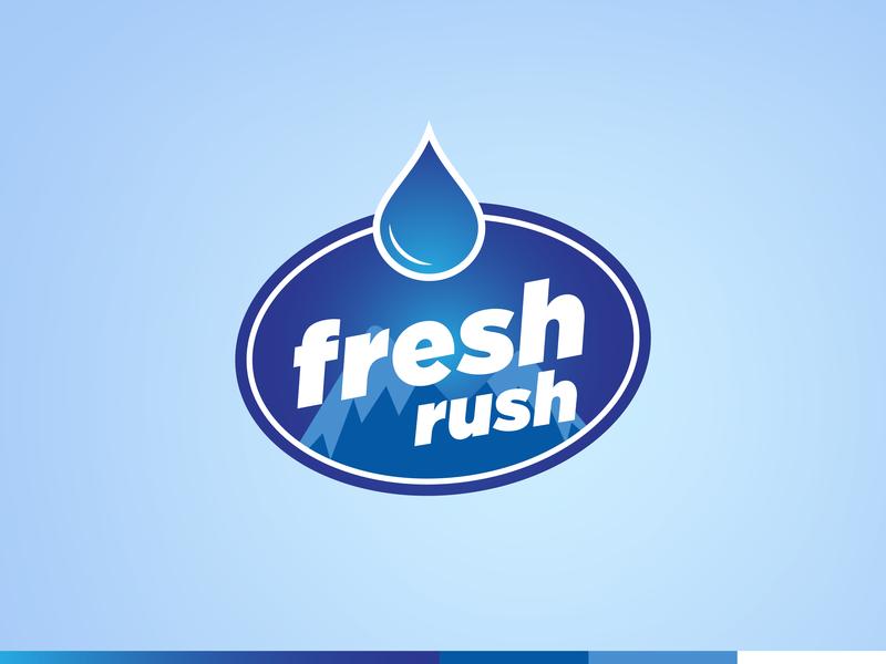 Fresh Rush Logo identity logo branding logo design water