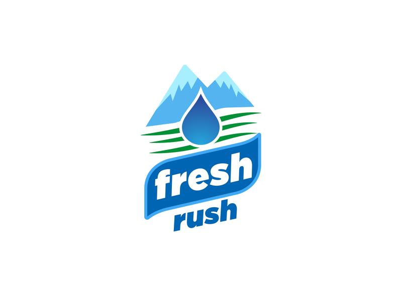 Fresh Rush Logo logodesign icon design typography illustration logo branding