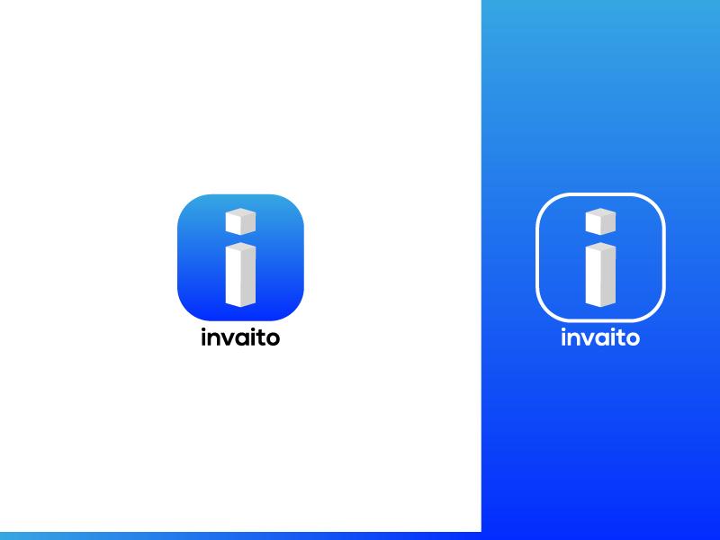 Invaito Logo gradient branding minimal logo