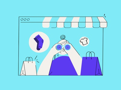 Looking Shopify Trending Products 2020 searching looking shopping shopgram product page products shopify data vector uidesign illustration graphic design
