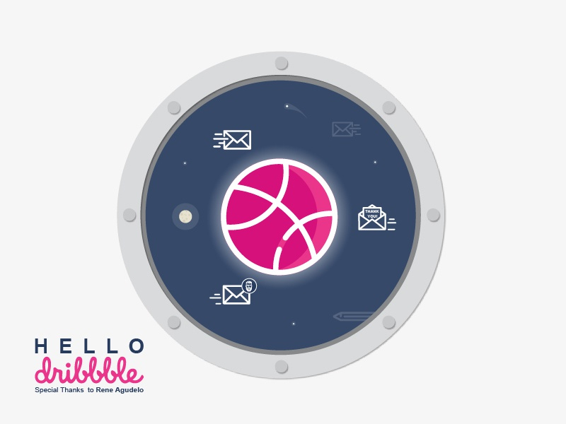 Hello Dribbble! illustration hellodribbble firstshot