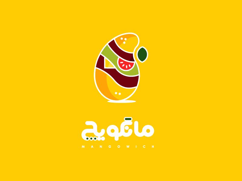 Mangowich mango logotype food logo sandwich
