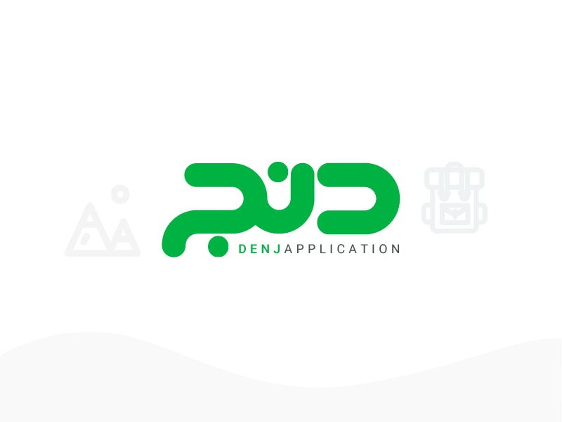 DENJ LOGO application logodesign simple
