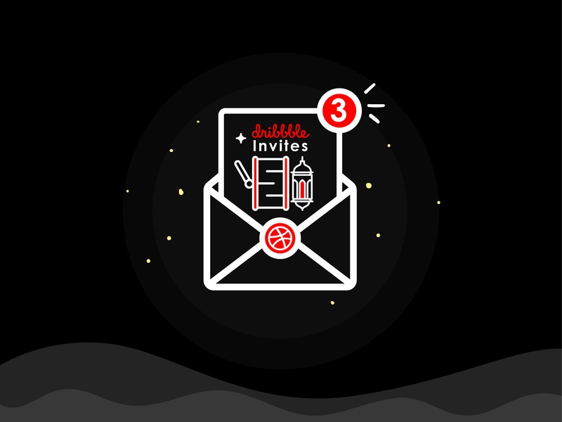 Invitation Shot ashura draft dribbble invite simple design illustrator graphic invitation invite