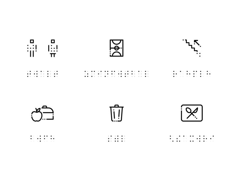 Blind Pictogram blinds outline icon school braille pictogram