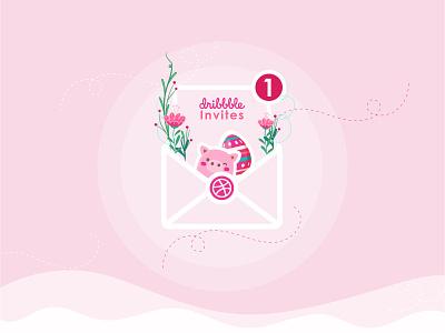 Invitation Shot spring festival spring pig newyears newyear invitations invite dribbbleinvite illustration
