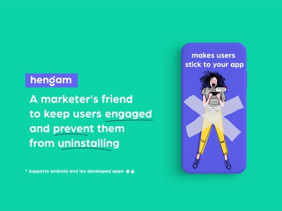 Hengam gif animation smart notification center messages automated ui design uiux ux design uidesign marketers b2b push notification push ai artificial intelligence illustraion illustration illustration digital hengam