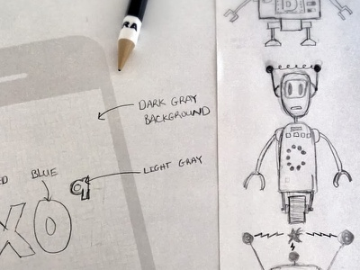 XO9 Bot sketches sketch bots xo9 uistencils pencil paper