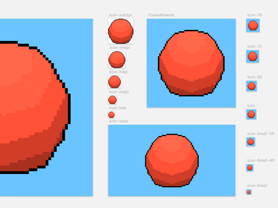 Orb App Icons icon app ios android game 8bit sketch