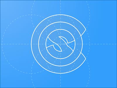 COS Logo Blueprint logo blueprint icon circles