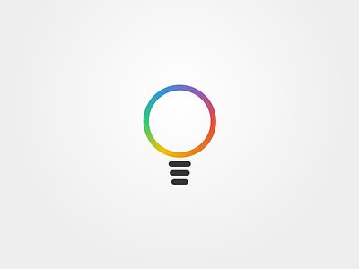 Bulb Logo color rainbow bulb logo ios line smart lights iot