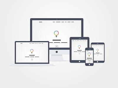 Responsive Web Layout landing page web mobile tablet responsive flat blokk bootstrap