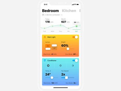 Smart Home app mobile freebies sketch uikit smart home smarthome freebie ios