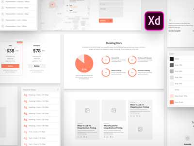 Sections Wireframe Kit for Adobe XD