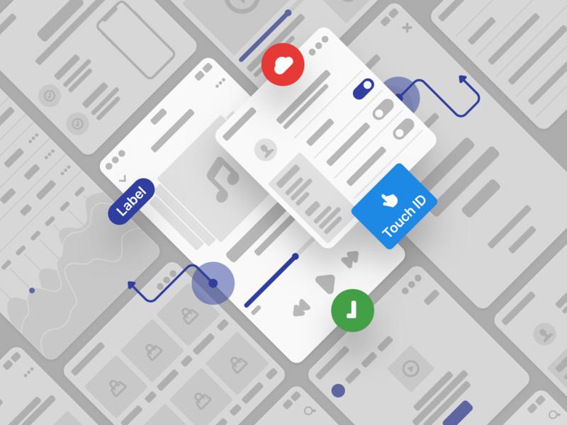 Scheme Flowcharts 2.0 andorid post news ios prototyping vector design app blog mobile flow ui prototype figma wireframe ux web uikit sketch