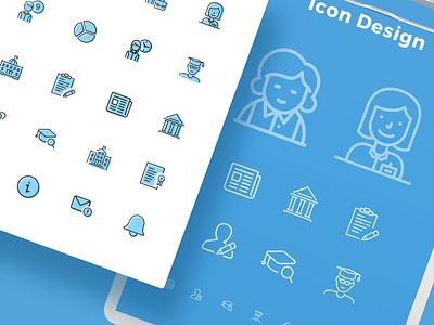 Icon Design 1 theme icon theme design blue and black blue and white blue branding ui design icon set icon design iconography icons round icons rounded corner