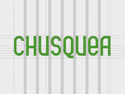 Chusquea Paisagismo type construction logo brand identity geometric construction typography type chusquea