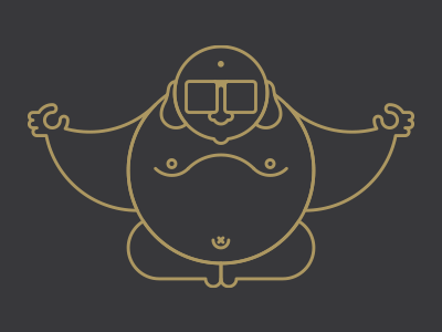 Buddha geometric buddha
