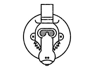 Heleno top hat monkey heleno
