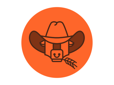 Farming Business cowboy hat ox wheat farming business farm