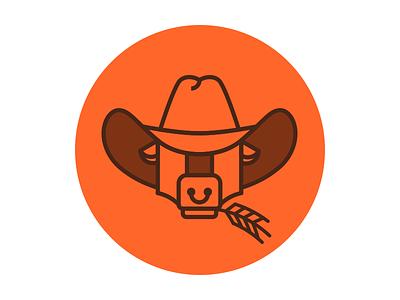 Farming Business cowboy hat ox wheat farming business farm